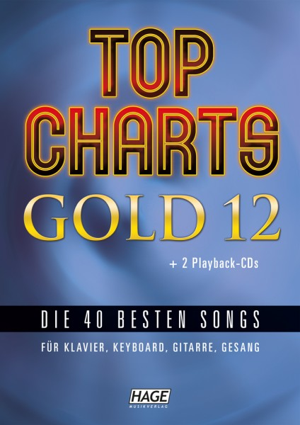 Top Charts Gold 12 (mit 2 CDs + Midifiles, USB-Stick)