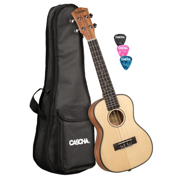 Solid Top Konzert Ukulele Set
