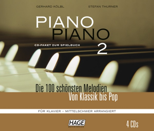 Piano Piano 2 mittelschwer CD-Paket (4 CDs)