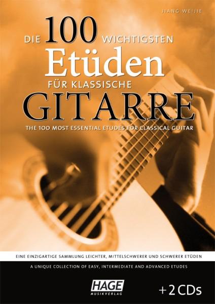 Die 100 wichtigsten Etüden für klassische Gitarre (mit 2 CDs)