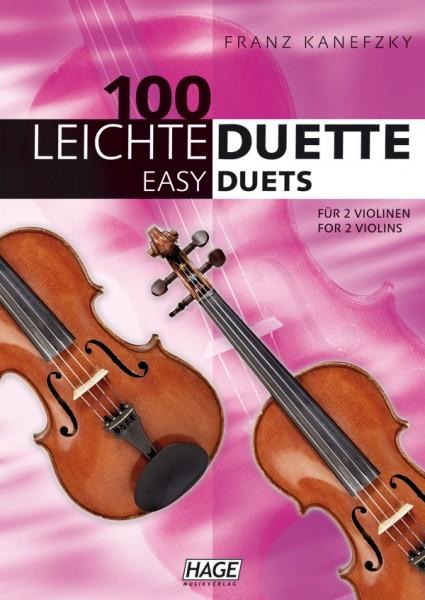 100 Leichte Duette für 2 Violinen