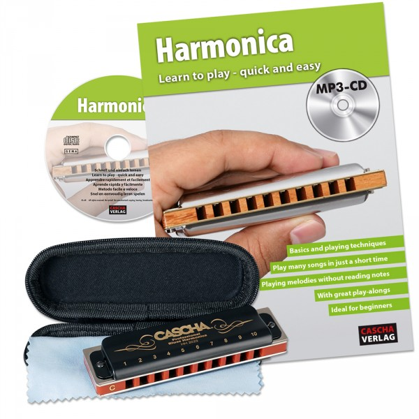 Professional Blues Harmonica Set
