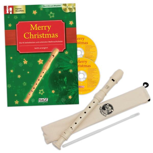 Blockflöten Weihnachts-Set - Barocke Griffweise