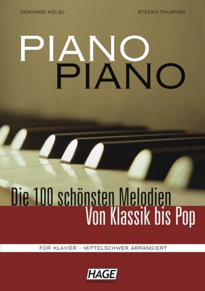 Piano Piano 1 mittelschwer (mit Midifiles, USB-Stick)