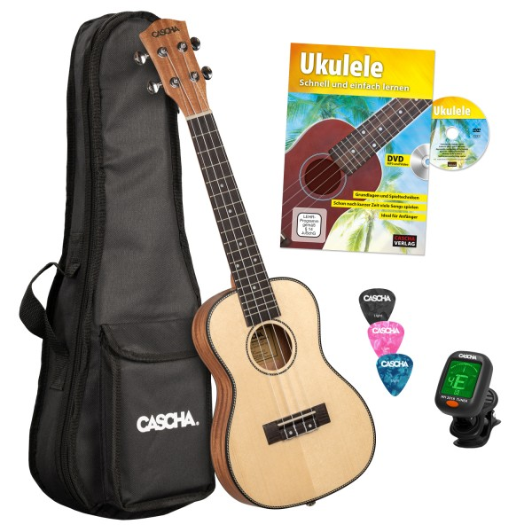 Solid Top Konzert Ukulele Bundle