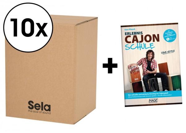 Sela Carton Cajon Schulpaket - 10 x Carton Cajon inkl. Erlebnis Cajon Schule