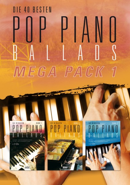 Pop Piano Ballads Mega Pack 1 (mit 6 CDs)