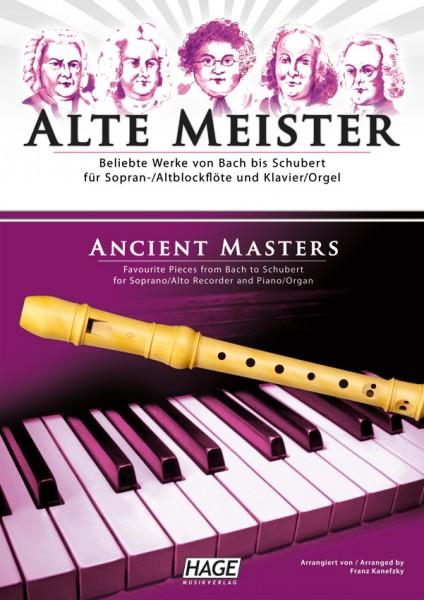 Alte Meister für Sopran-/Altblockflöte und Klavier/Orgel