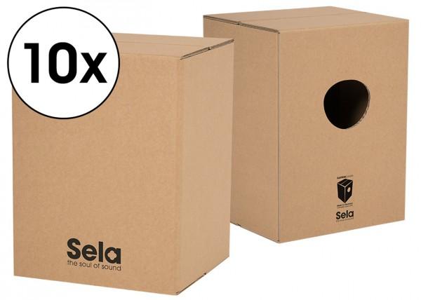 Sela Carton Cajon Schulpaket - 10 x Carton Cajon
