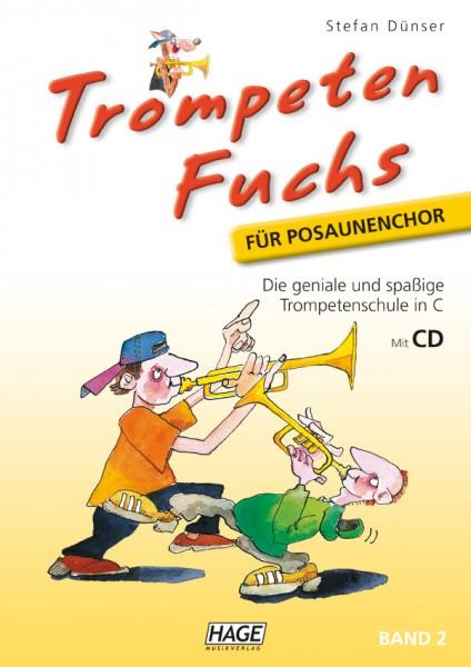 Trompeten Fuchs Band 2 in C für Posaunenchor (mit CD)