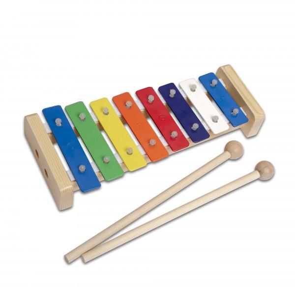 Buntes Glockenspiel aus Holz