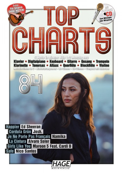 Top Charts 84 (mit CD + Midifiles, USB-Stick)