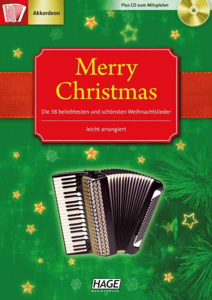 Merry Christmas für Akkordeon (mit CD)