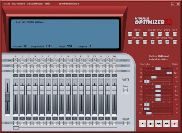 Midifile Optimizer XI (Update von Optimizer 9)