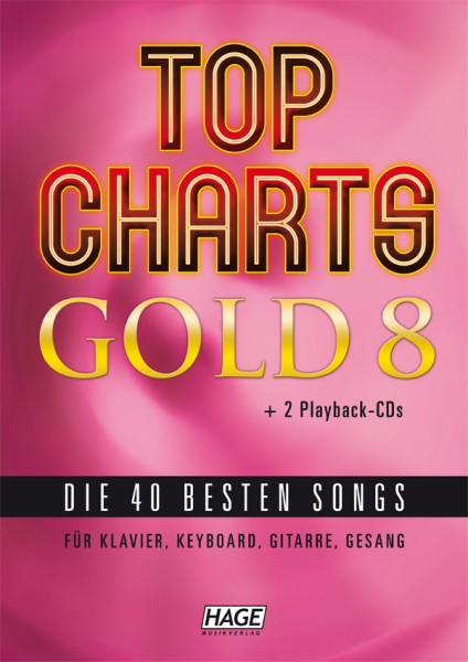 Top Charts Gold 8 (mit 2 CDs + Midifiles, USB-Stick)
