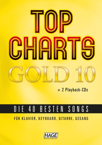 Top Charts Gold 10 (mit 2 CDs + Midifiles, USB-Stick)