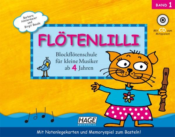 Flötenlilli Band 1 (mit CD)