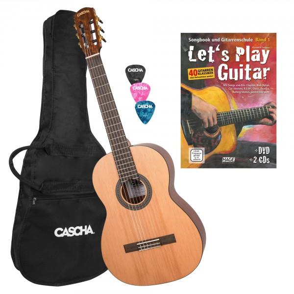 4/4 Konzertgitarre Bundle mit Let's Play Guitar
