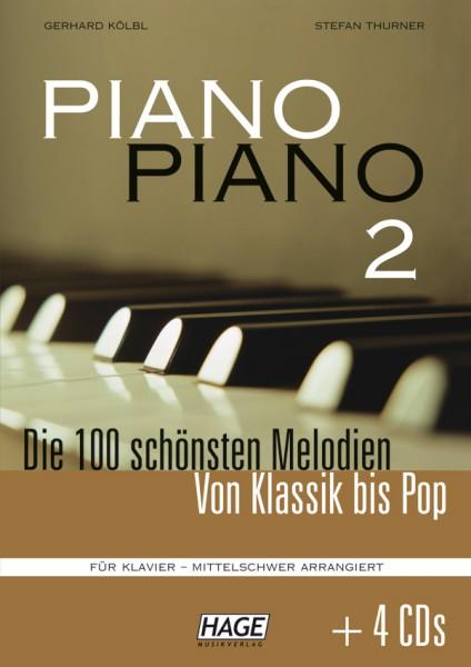 Piano Piano 2 mittelschwer (mit 4 CDs)
