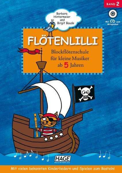 Flötenlilli Band 2 (mit CD)