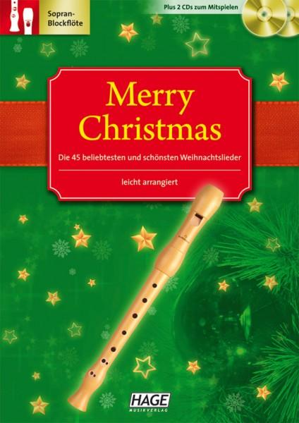 Merry Christmas für C-Instrumente (Blockflöte)
