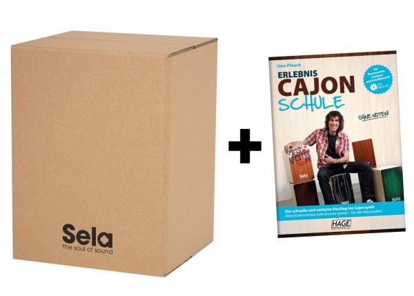 Sela Carton Cajon Starter Pack inkl. Erlebnis Cajon Schule