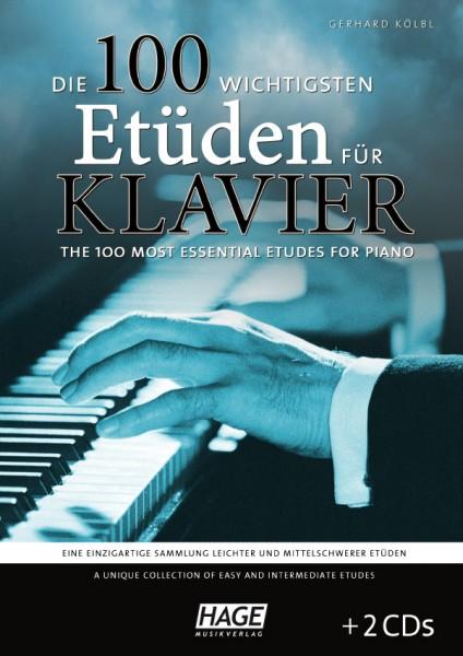 Die 100 wichtigsten Etüden für Klavier (mit 2 CDs)