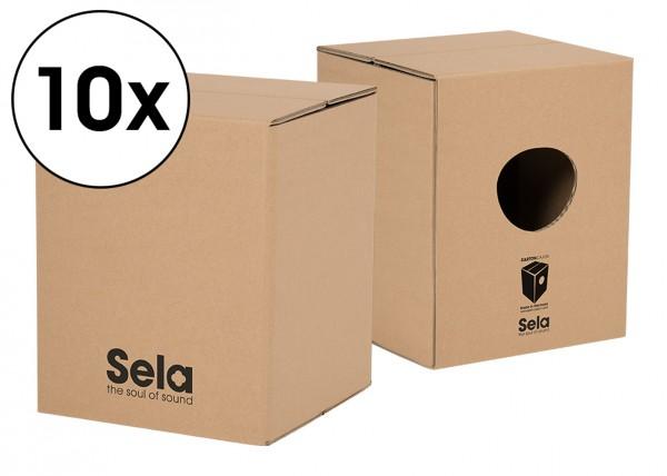 Sela Carton Cajon Mini Schulpaket - 10 x Carton Cajon Mini